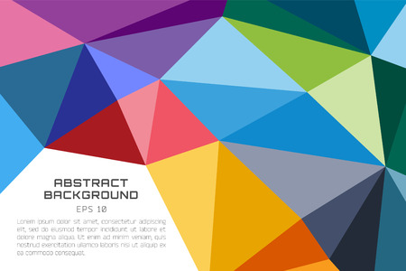 Abstract background vector wallpaper. Triangle, color lines, pattern, geometric, art, technology wallpaper, technology background. Stock vectors illustration Иллюстрация