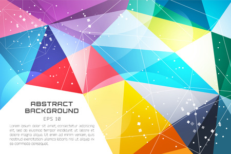 technology wallpaper: Abstract background vector wallpaper. Triangle, color lines, pattern, geometric, art, technology wallpaper, technology background. Stock vectors illustration Vettoriali