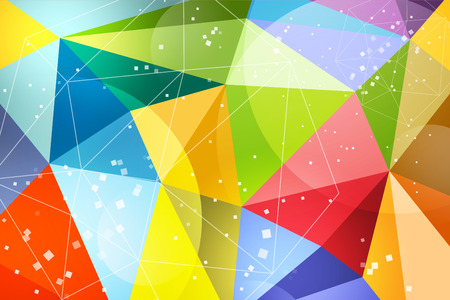 icosahedron: Abstract background design