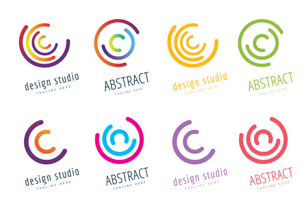 Abstract flow logo template design