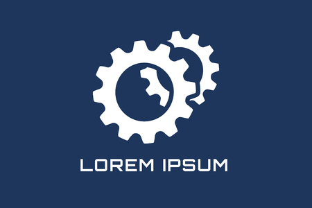 gears: Gear vector logo icon template