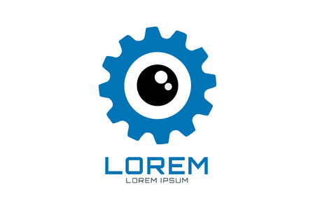 Gear vector logo icon template