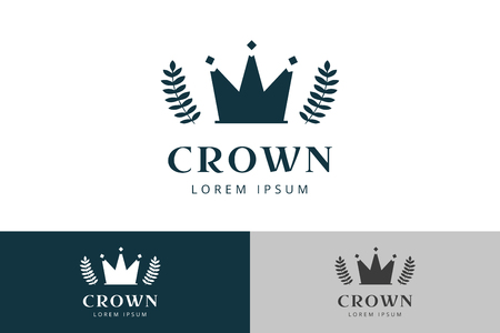 crown logo: Crown abstract logo vector template. Hotel logo. Kings symbol. Power shape icon. Business leaders, boss, premium quality. Queen crown. Crown logo. Crown icon. Premium product Archivio Fotografico