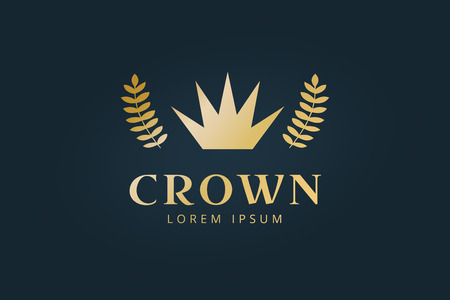 hotel sign: Crown abstract logo vector template. Hotel logo. Kings symbol. Power shape icon. Business leaders, boss, premium quality. Queen crown. Crown logo. Crown icon. Premium product Illustration