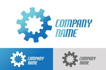 teambuilding: Gear vector logo icon template. Machine, progress, teamwork logo. Technology and techno shapes. Gear symbol. Teamwork vector logo. Teambuilding concept.