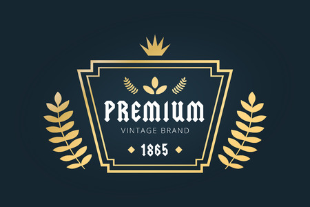 shield logo: Royal vintage premium logo badge icon template. Letter logo. Royal hotel, Premium boutique, Fashion logo, Education logo, Wine logo, Shield logo, VIP logo, Star logo, School or University logo, Premium quality brand, Lawyer logo, Kings logo. Vintage retro