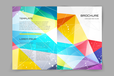 polygraph: Abstract brochure or flyer design template. Book cover design, blank, print design, journal. Brochure design. Brochure template. Flyer design. Flyer template