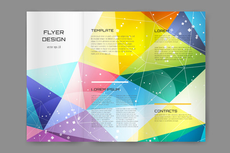 Abstract brochure or flyer design template. Book cover design, blank, print design, journal. Brochure design. Brochure template. Flyer design. Flyer template