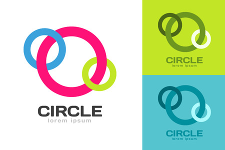 ring: Technology orbit web rings logo. Vector circle ring logo design. Abstract flow logo template. Round ring shape and infinity loop symbol, technology icon, thin line logo. Company logo. Logo design. Vector logo element. Web logo. Orbit logo