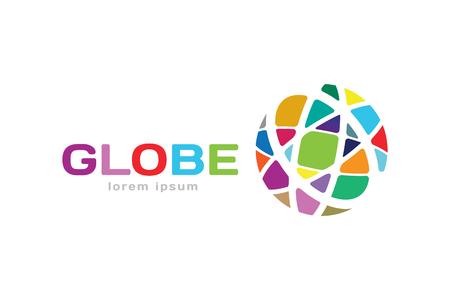 Vector abstract earth circle logo design. Earth logo. Globe logo icon. Abstract flow logo template. Round ring shape and infinity loop symbol, technology icon, geometric logo. Company logo design