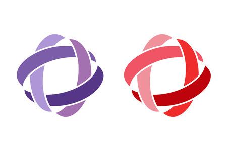 技術軌道 web リング ロゴ。ベクトル円リング ロゴ設計。抽象的な流れのロゴのテンプレート。ラウンド リング形状と無限ループのシンボル、テクノ  イラスト・ベクター素材