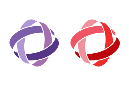 rings: Technology orbit web rings logo. Vector circle ring logo design. Abstract flow logo template. Round ring shape and infinity loop symbol, technology icon, thin line logo. Company logo. Logo design. Vector logo element. Web logo. Orbit logo