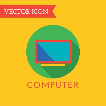communications tools: Computer icon logo. PC, monitor icon and pc symbol, technolog, tools. Tv icon, web, website or monitor icon. Monitor logo, tv logo and chat, communications, telecommunications Stock Photo