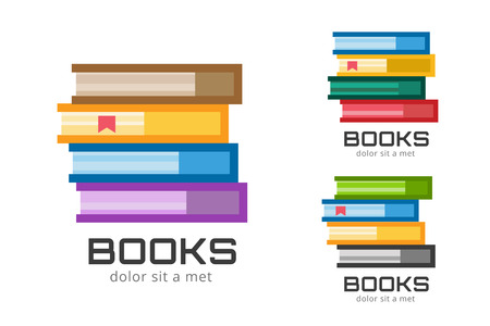 school books: Books  icons set. Sale background.  Back to school background. Education, university, college symbol or knowledge, books stack, publish, page paper. Book icons isolated on white