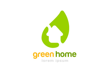 realty: Green house home . Home or house roof, mortgage and banking, loan, broke and growth. Realty mortgage. Real estate. Lawyer office. Bank, finance organization  template.