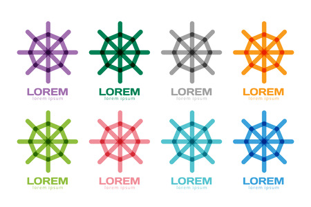 driving school: Rudder navigation icon. Navigation symbol. . Transport abstract. Driving school. Circle web net logotype icon. Yacht club, yacht race, vessel wheel, transport, travel.