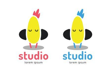radio dj: Cute chick silhouette  icon. Chicken music studio logotype. Music icon  silhouette. Headphones, radio, dj, party, listening. Animal character mascot.