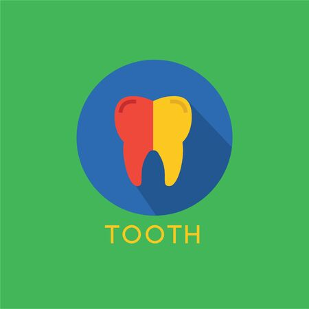 oral health: Tooth Icon  template. Health, medical or doctor and dentist office symbols. Oral care, dental, dentist office, tooth health, tooth care, clinic.  Tooth icon. Tooth silhouette