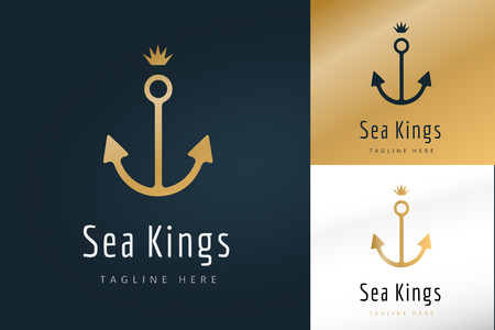 anchor marine: Anchor vector logo icons. Sea, sailor symbols. Anchor logo. Anchor icon. Anchor symbol, anchor tattoo. Vintage old style logo template. Retro style. Arrows, labels ribbons decor, premium quality