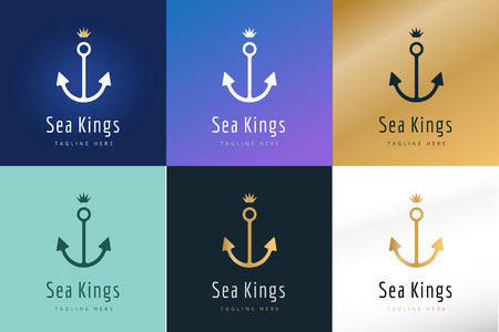 anchor: Anchor vector logo icons. Sea, sailor symbols. Anchor logo. Anchor icon. Anchor symbol, anchor tattoo. Vintage old style logo template. Retro style. Arrows, labels ribbons decor, premium quality