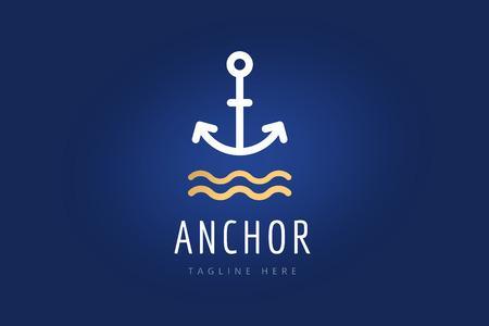 ベクトルのロゴのアイコンをアンカー。海に、セーラーのシンボル。ロゴを固定します。アンカー アイコン。アンカー記号、アンカー入れ墨です。  イラスト・ベクター素材