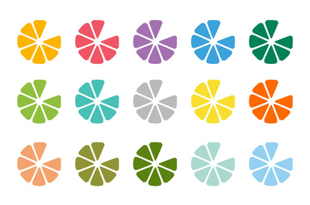 fruit drink: Lime o limone frutta disegno bevanda icona logo del modello. Succo di frutta, bevanda, colore giallo e schizzi, vegetariano, freddo. Vettoriali