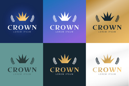 crown logo: Crown abstract logo vector template. Hotel logo. Kings symbol. Power shape icon. Business leaders, boss, premium quality. Queen crown. Crown logo. Crown icon. Premium product. Lawyer or loan logo