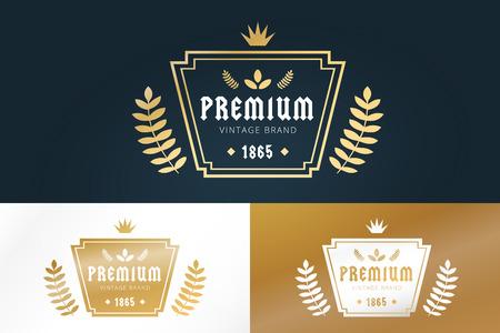 crown logo: Royal vintage premium logo badge icon template. Crown logo. Letter logo. Royal hotel, Premium boutique, Fashion logo, Education logo, Wine logo, Shield logo, VIP logo. School or University logo. Lawyer logo. Loan logo.