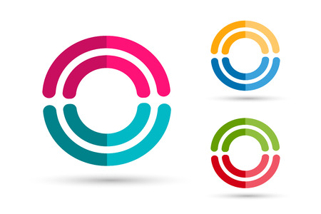 together: Technology orbit web rings logo. Vector circle ring logo design. Abstract flow logo template. Round ring shape and infinity loop symbol, technology icon, thin line logo. Company logo. Together logo.