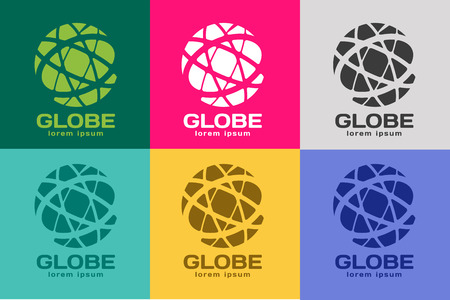 Globe . Globe icon. Globe vector. Globe illustration. Globe silhouette. Abstract globe. Colored globe. Globe icons set. Orbit near globe. Star globe Illustration