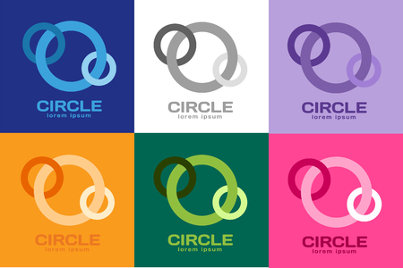 circle shape: Technology circle . Orbit rings . Vector circle  design. Abstract circle  template. Round ring shape. Infinity ring symbol, technology circle icon, thin line circle . Company round . Together circle .