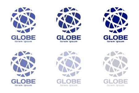 Globe . Globe icon. Globe vector. Globe illustration. Globe silhouette. Abstract globe. Colored globe. Globe icons set. Orbit near globe. Star globe  イラスト・ベクター素材