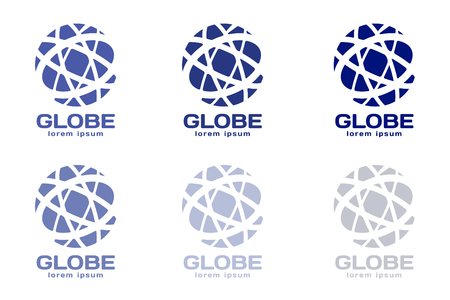 globe: Bol . Wereldbol icoon. Globe vector. Globe illustratie. Globe silhouet. Abstracte wereld. Gekleurde wereld. Globe pictogrammen instellen. Orbit buurt wereld. Star wereld Stock Illustratie