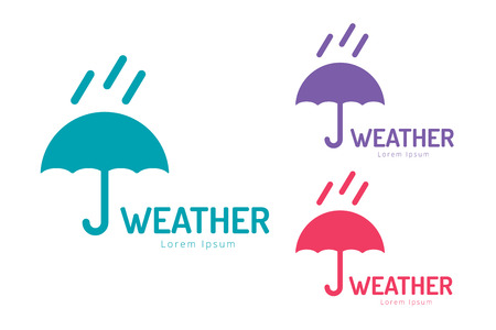 weather protection: Vector umbrella . Umbrella icon, colored umbrella isolated, umbrella  set, umbrella and rain symbol, umbrella silhouette shape, umbrellas weather icon, umbrella interface element