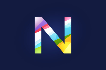 n: N letter vector. N logo icon template. N symbol silhouette. N isolated icon, N line style letter, N logotype, N logotype, N modern symbol, N company name brand.