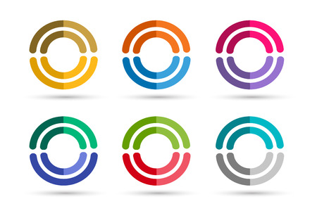 circle icon: Technology circle logo. Orbit rings logo. Vector circle logo design. Abstract circle logo template. Round ring shape. Infinity ring symbol, technology circle icon, thin line circle logo. Company round Illustration