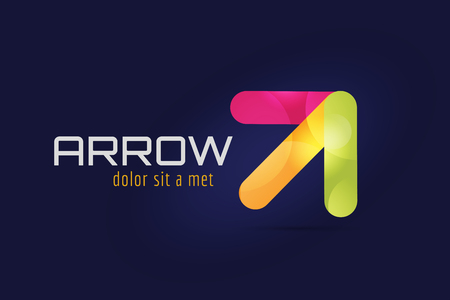 arrow button: Vector arrow icon. Arrow abstract logo template. Up arrow, cursor arrow icon, arrowheads. Arrow marker and dynamic arrow symbol. Arrow isolated. Arrow vector logo. Arrow company logo