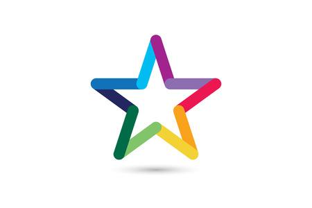 4 つ星のベクトルのロゴ。星のアイコン。リーダーの上司星、勝者、格付け、ランク。スター占星術記号です。スター バーストのロゴが分離されま