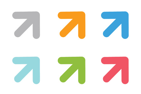symbol: Vector icona della freccia. Freccia logo astratto modello. Freccia su, cursore freccia, punte di freccia. Marcatore Arrow e simbolo della freccia dinamica. Freccia isolato. Freccia logo vettoriale. Freccia logo aziendale Vettoriali