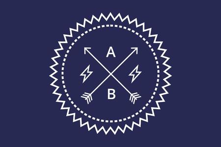 star logo: Vintage old style logo icon with arrows. Star logo. Letter logo. Royal hotel, Premium boutique, Fashion logo, Education logo, VIP logo. School or University logo, Premium quality brand, Lawyer logo