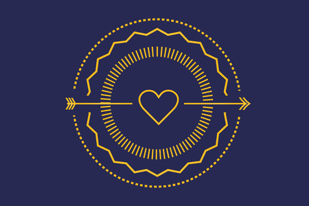 royal wedding: Hipster heart logo. Heart vector icon. Royal love, Premium boutique and Fashion logo. Heart silhouette. Heart shape. Together heart logo, Wedding, Love, Medical heart