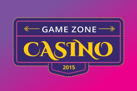 Casino logo icon. Casino poker, cards or casino game and money. Casino vector icons. Casino games. Casino cards. Banner with casino logo badges. Game cards. Playing casino games. Casino banner Illustration