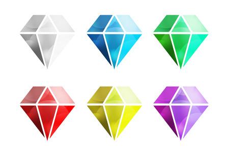 Vintage old diamond logo. Diamond icon template. Vintage retro style diamond.  Jewelry labels, ribbons, decor, ornament. Premium quality diamond vector. Diamond logo design. Retro style Vectores