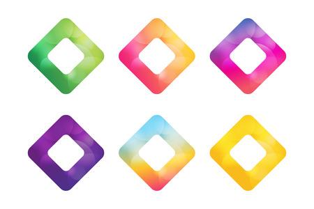 square shape: Vector square icon. Square abstract logo template. Square vector, tech square icon. Square symbol and square shape symbol. Square isolated. Square vector logo. Square company logo Illustration