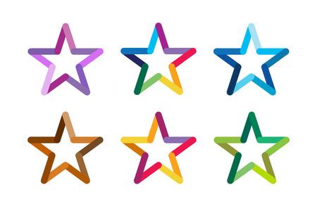 Logotipo de la estrella del vector. Icono de la estrella. Estrellas Líder jefe, ganador, categoría, rango. Símbolo de la astrología de la estrella. Aislado logo Starburst. Estrella icono logotipo. Logotipo de la estrella del deporte. Logotipo de estrella de la astronomía
