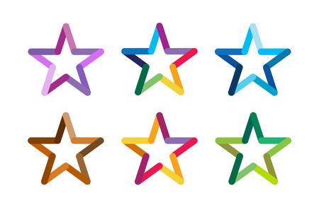 deporte: Logotipo de la estrella del vector. Icono de la estrella. Estrellas Líder jefe, ganador, categoría, rango. Símbolo de la astrología de la estrella. Aislado logo Starburst. Estrella icono logotipo. Logotipo de la estrella del deporte. Logotipo de estrella de la astronomía