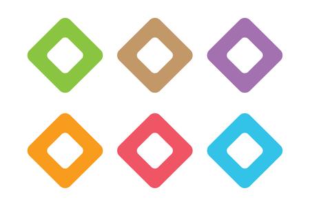 cuadrados: Icono cuadrado del vector. Plaza plantilla de logotipo abstracto. Cuadrado del vector, tecnología icono cuadrado. Símbolo de la plaza y la plaza símbolo de la forma. Plaza aislado. Logotipo cuadrado del vector. Plaza del logotipo de la empresa Vectores