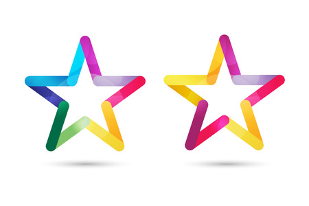 rank: Star vector logo. Star icon. Leader boss star, winner, star rating, rank. Star astrology symbol. Starburst logo isolated. Star icon logotype. Sport star logo. Astronomy star logo