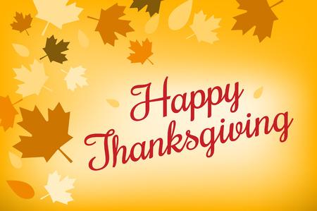 感謝祭の日の図。感謝祭のカード。感謝祭の背景やバナー。感謝祭のカボチャのベクトル シルエット。背景を立ち葉で感謝祭。黄色とオレンジ色