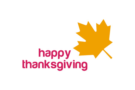 thanksgiving day greetings: Thanksgiving day canada logo. Thanksgiving leaf. Thanksgiving  background or banner. Thanksgiving leaves vector silhouette. Thanksgiving with leaves falling on white. Yellow and red colors